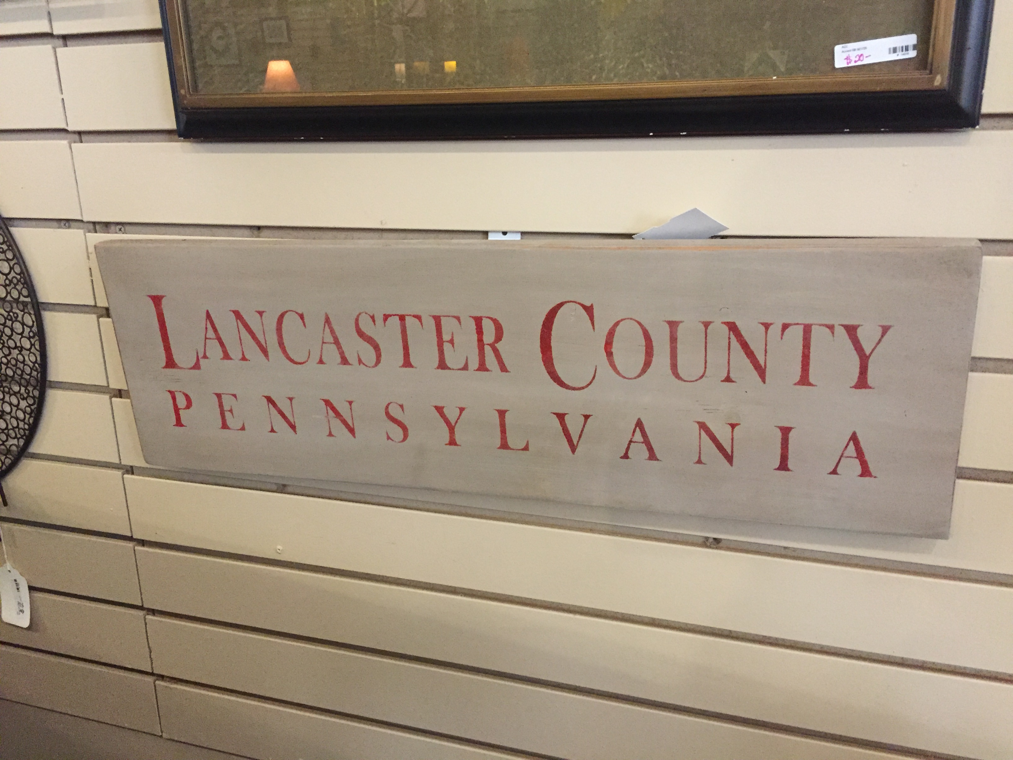 LANCASTER COUNTY SIGN