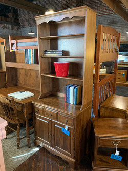 MAPLE CABINET WITH HUTCH TOP