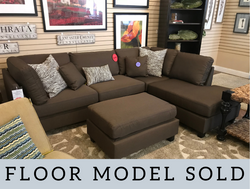 CHOCOLATE SECTIONAL WITH CHAISE