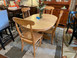 LIGHT MAPLE TABLE & 4 CHAIRS