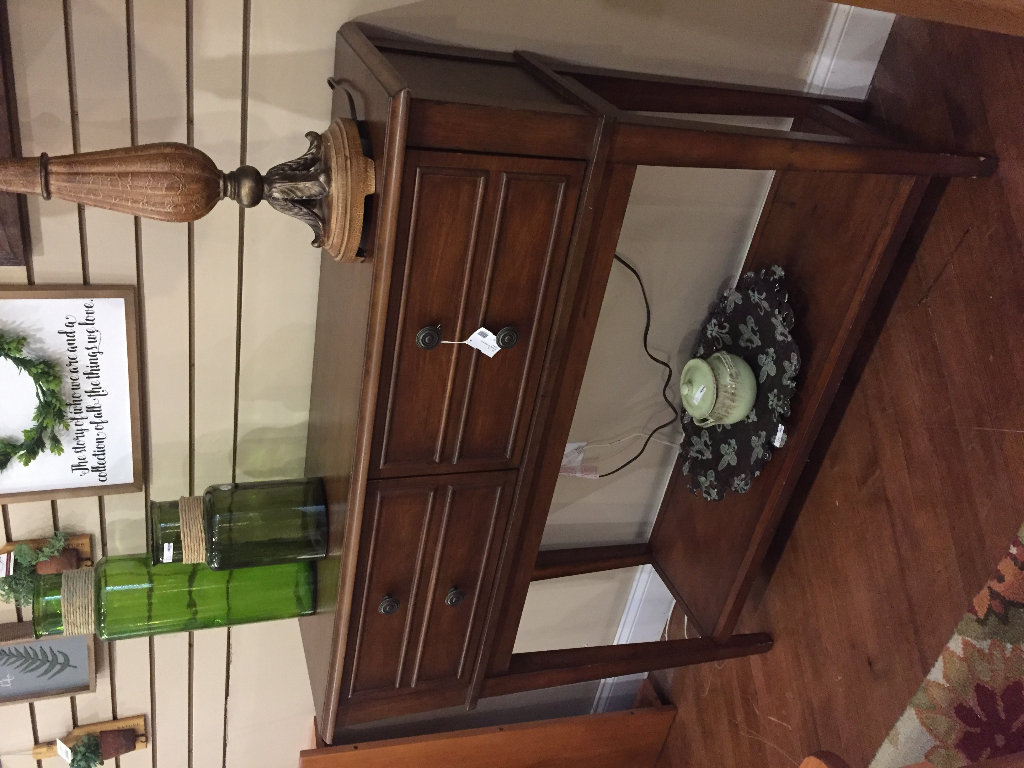 TALL DOUBLE DRAWER CHERRY SERVER/CONSOLE