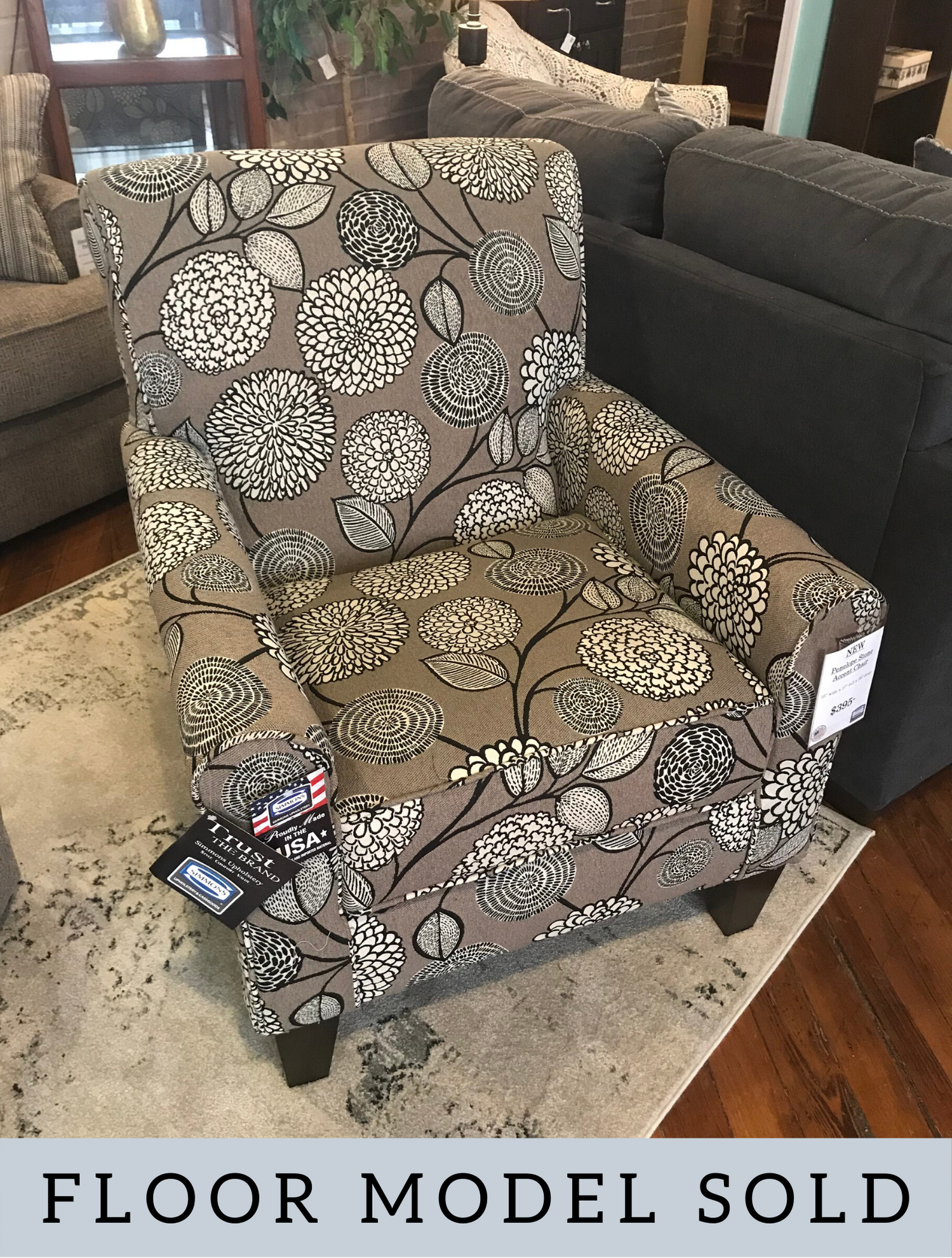 SIMMONS PENELOPE STONE ACCENT CHAIR