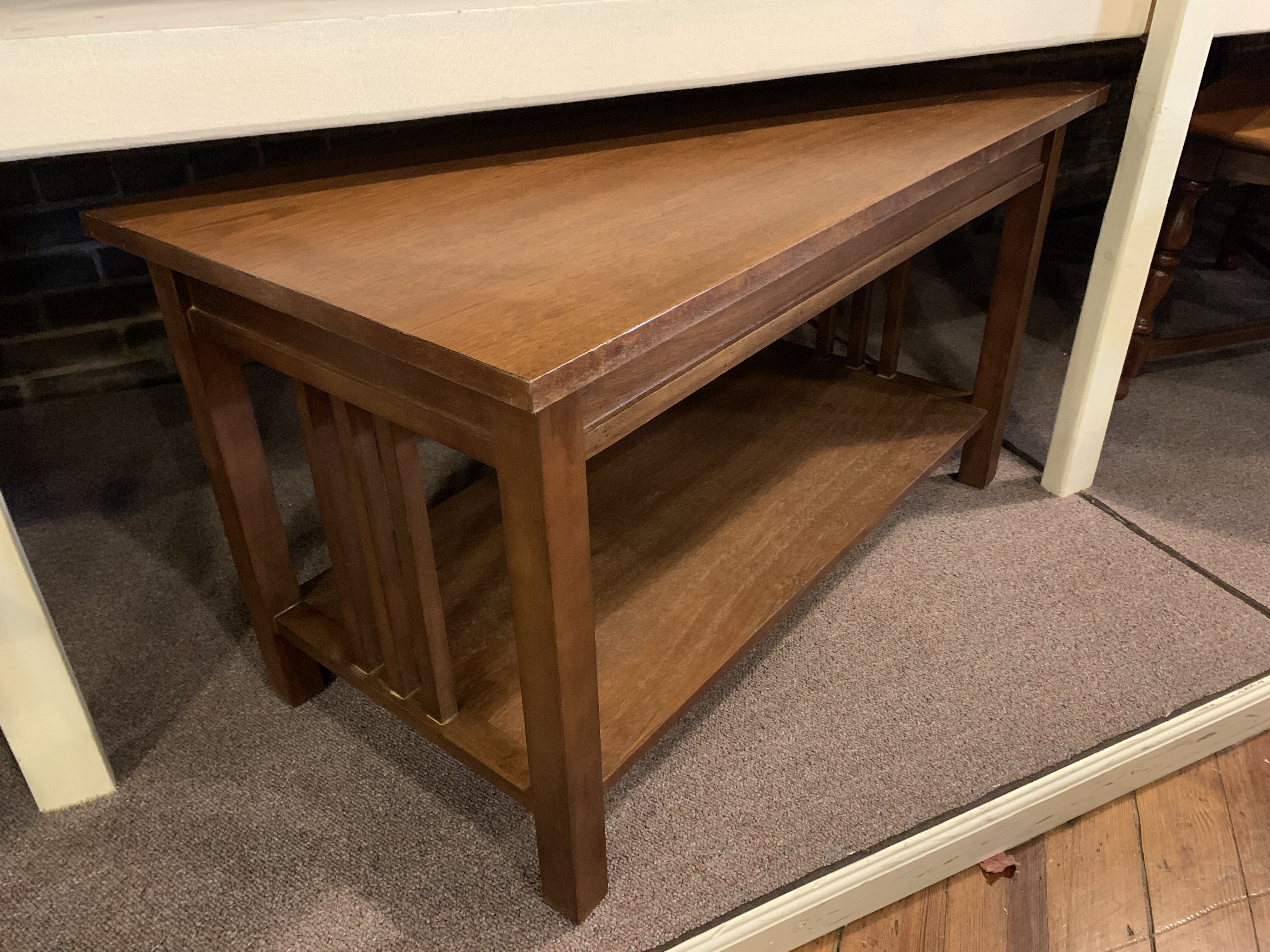 MISSION OAK FINISH COFFEE TABLE