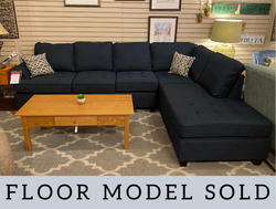 DARK BLUE SECTIONAL WITH CHAISE