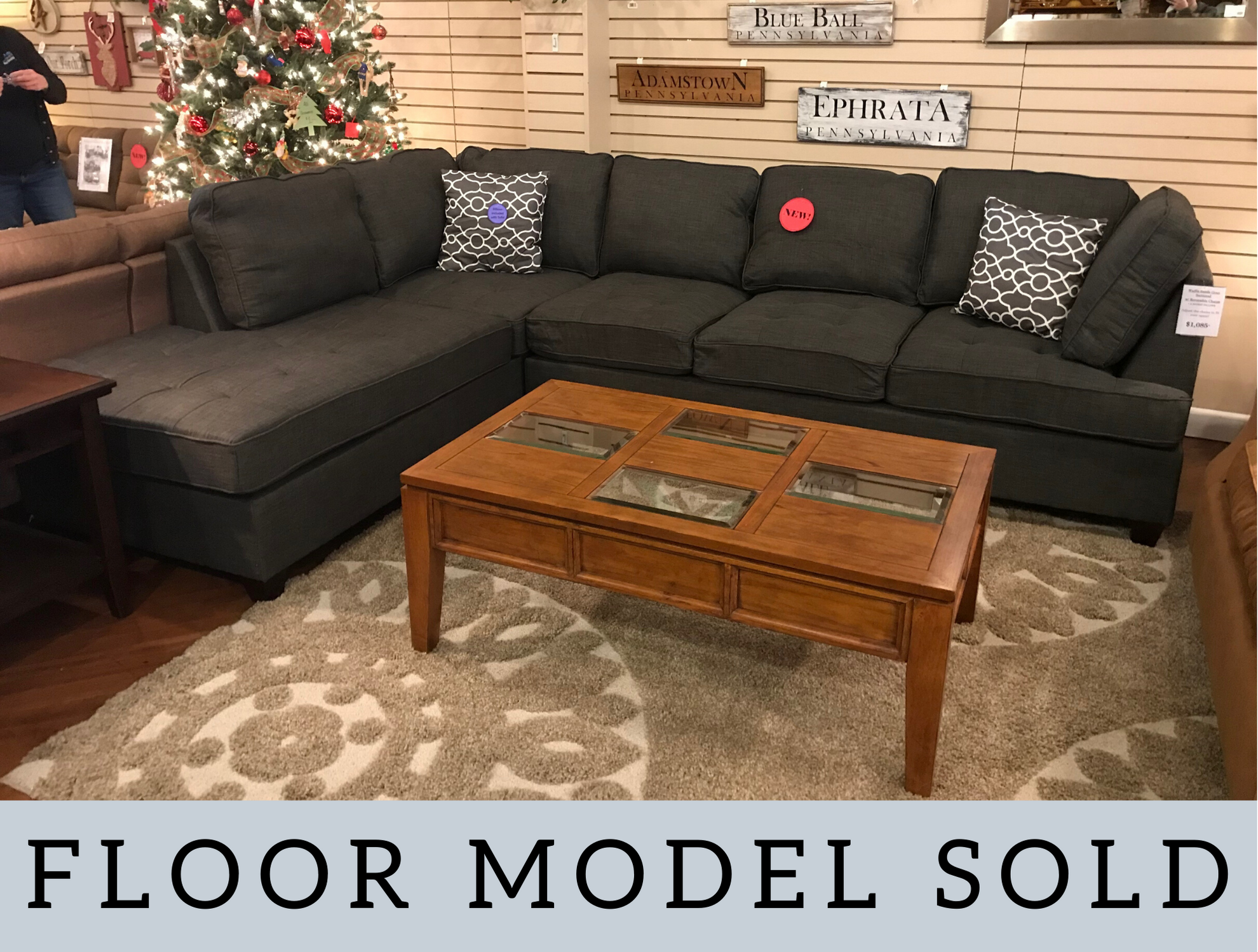 GRAY SECTIONAL WITH CHAISE