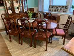 CHERRY DINING TABLE & 8 CHAIRS