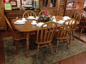 COCHRANE OAK TABLE U0026 6 CHAIRS