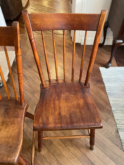 RUSTIC WOOD DINING CHAIR