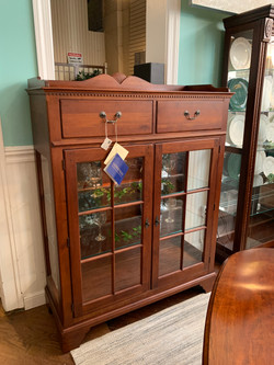 CHERRY LIGHTED CABINET