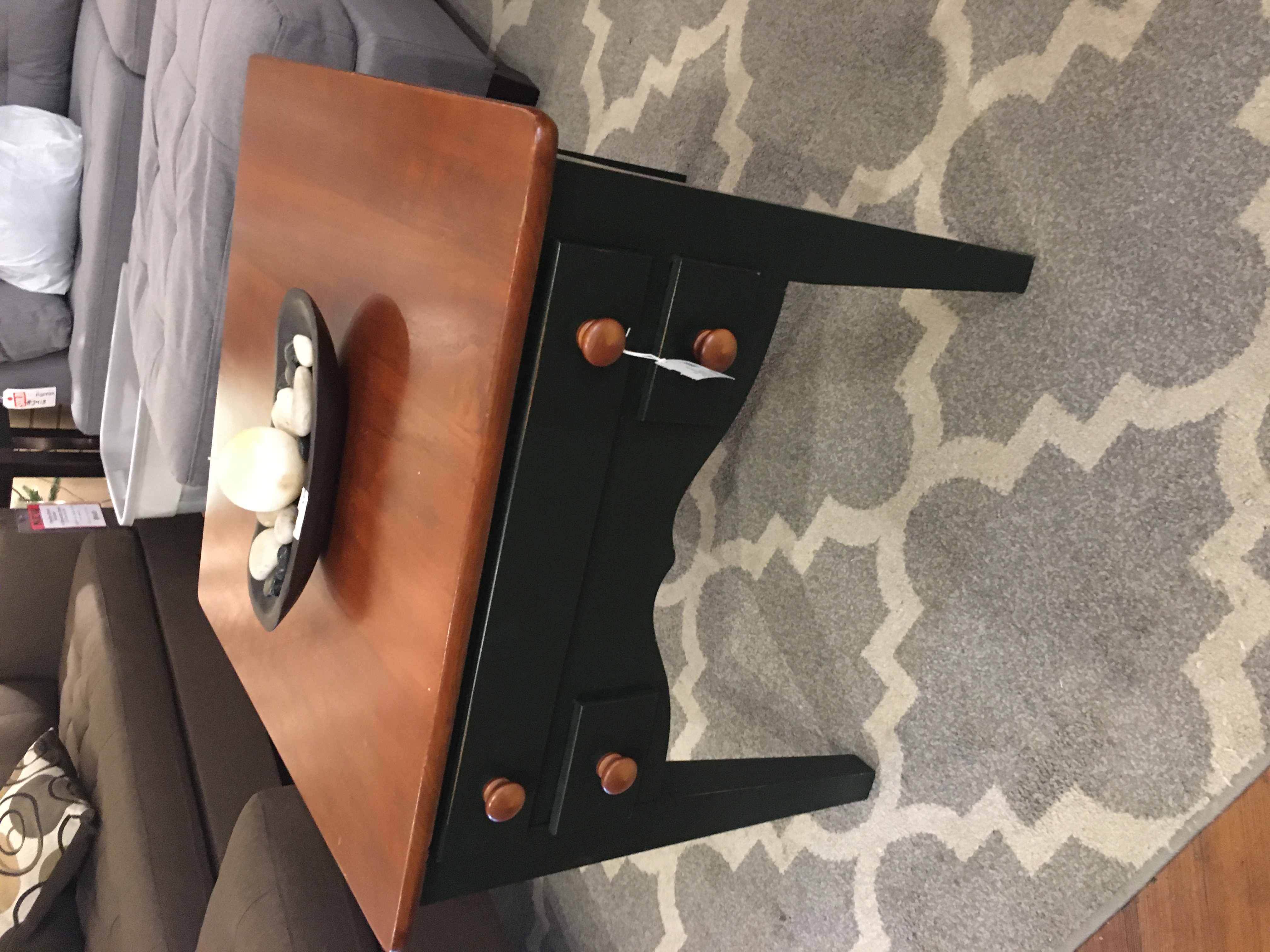 RIVERSIDE GREEN & CHERRY END TABLE