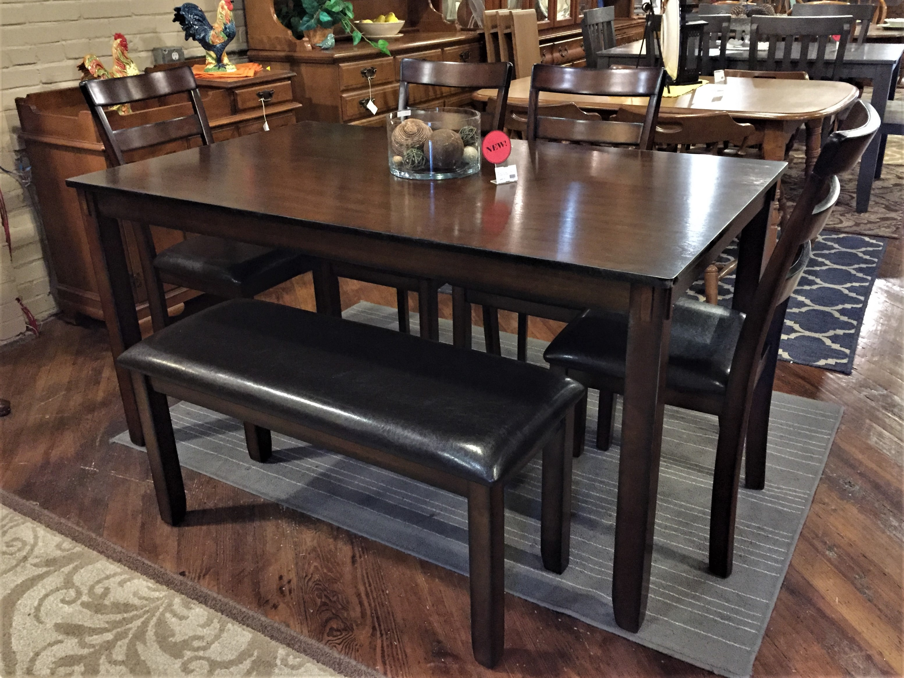 DARK CHERRY DINING TABLE