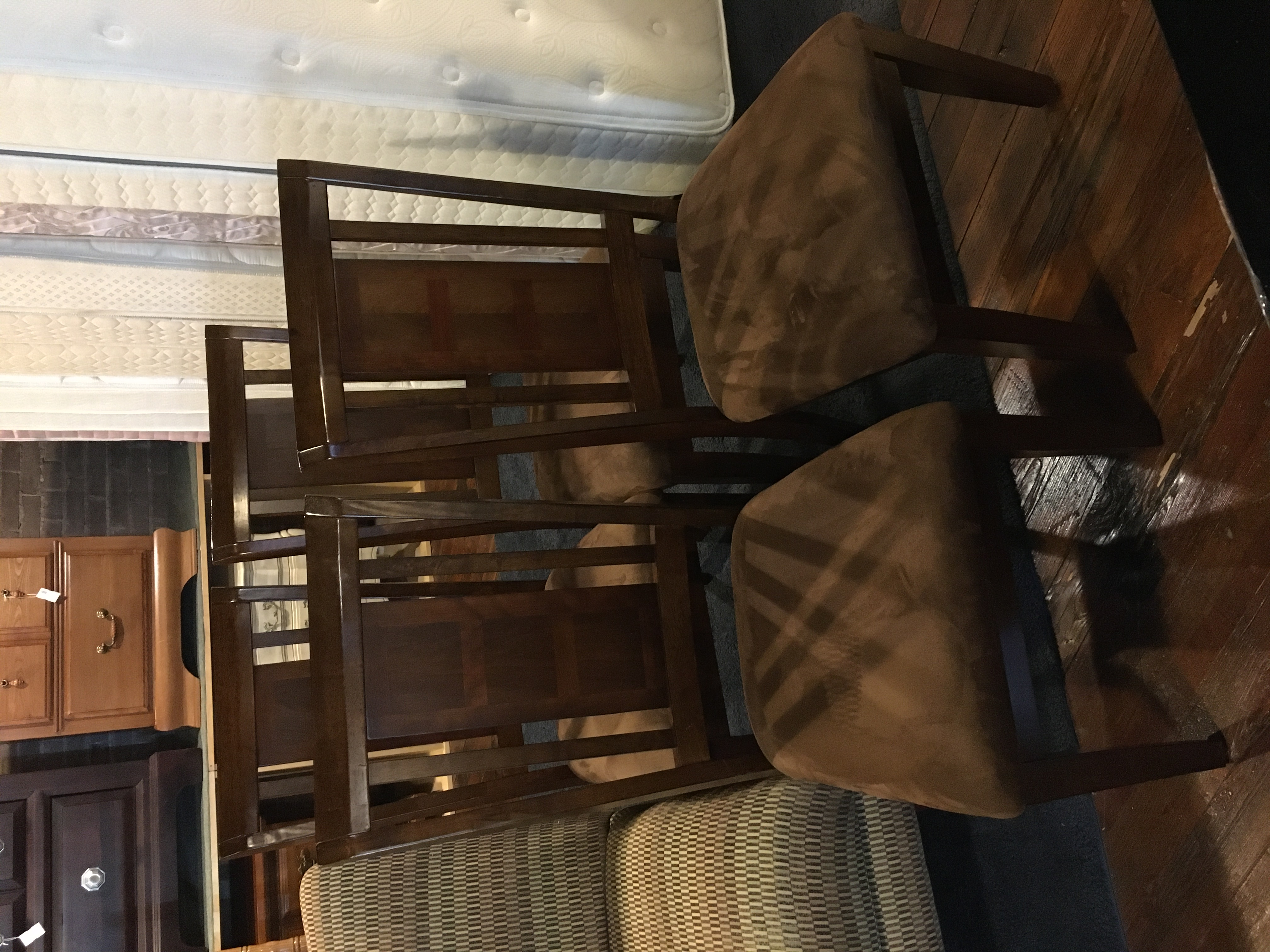 SET OF 4 CHERRY DINING CHAIRS