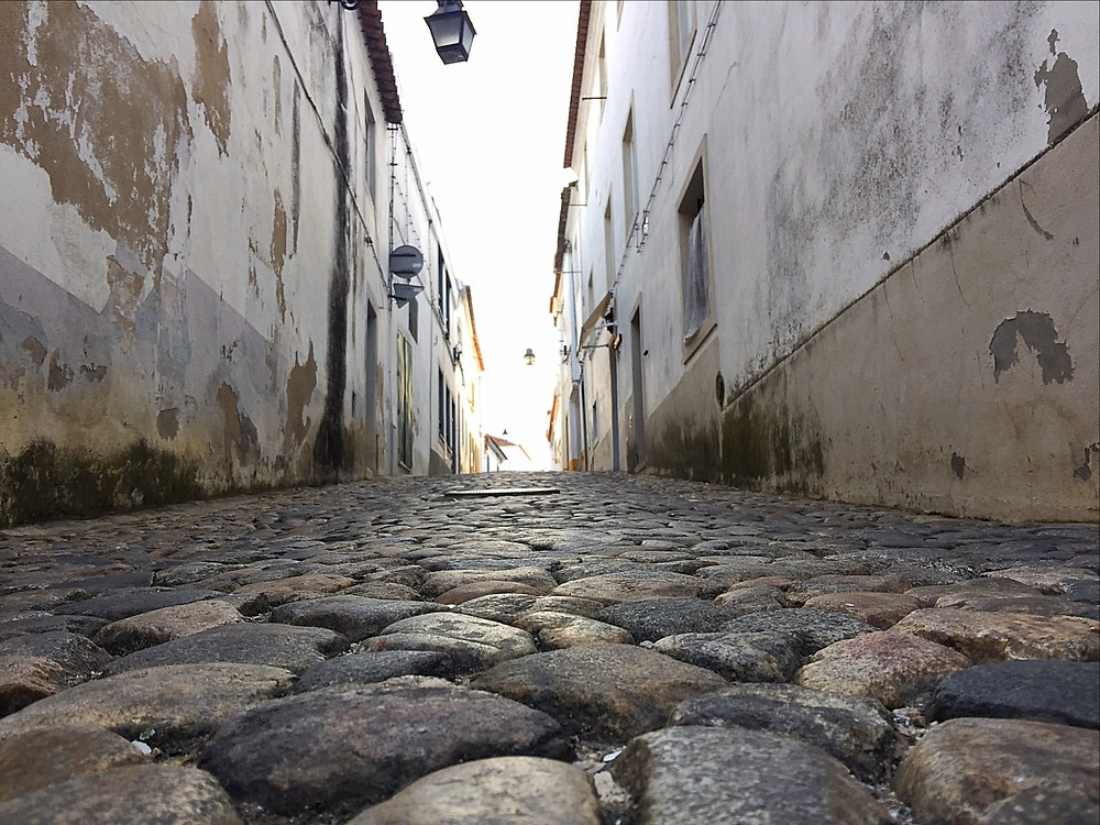 The ancient streets of Evora.
