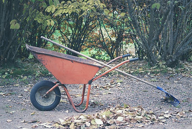 Rake and Wheelbarrow