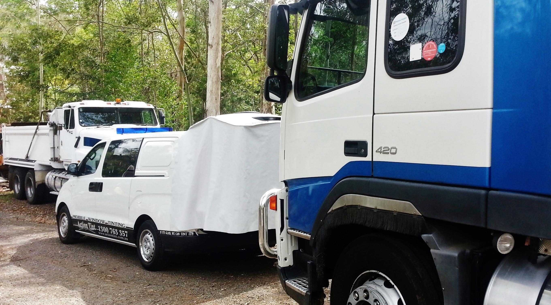 Volvo truck tint