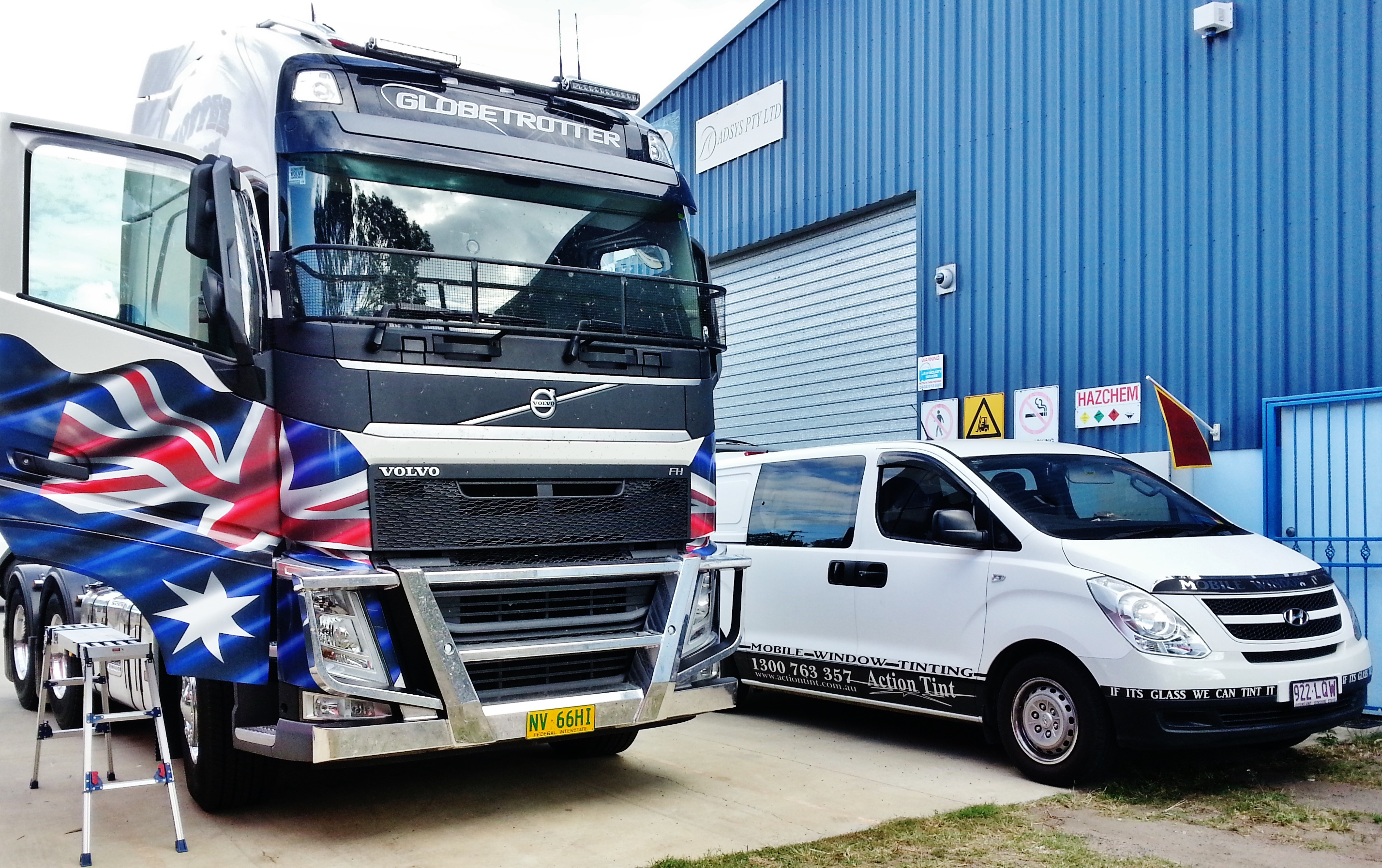 Mobile Truck Tinting