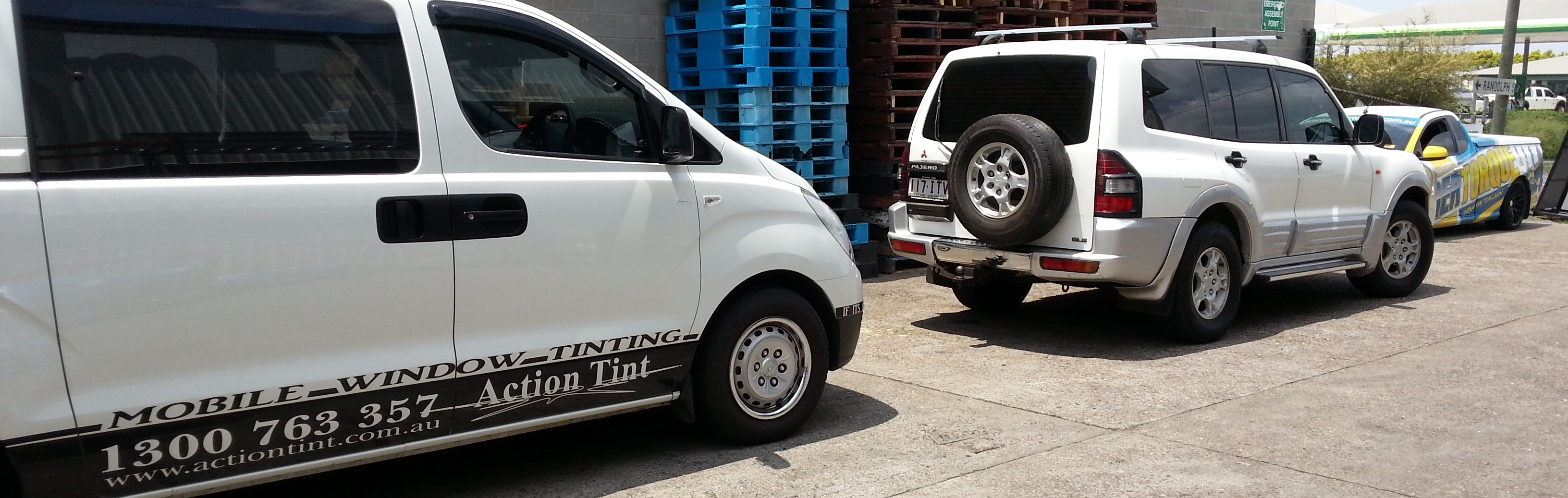 Mobile Tinting at work places Pajero