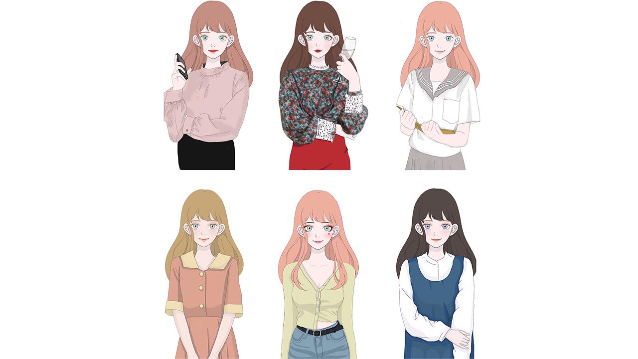 MsJulia_角色設計_多種妝容服裝.png