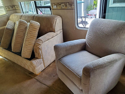 RV furniture cleaning