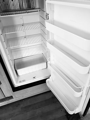 RV fridge after cleaning