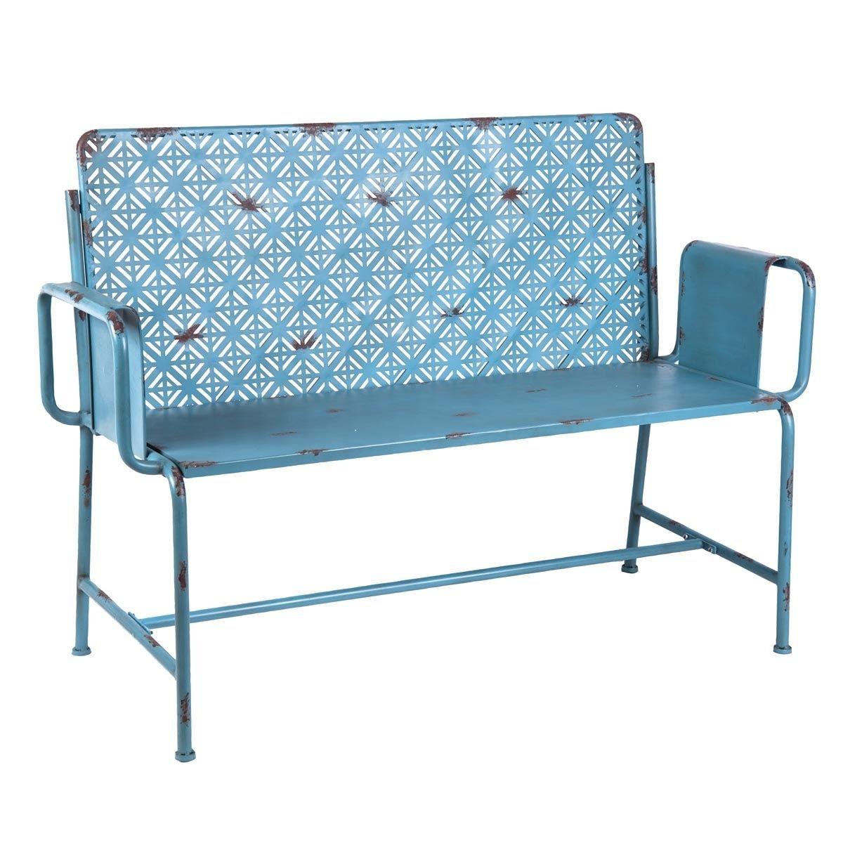 Picture of: Moroccan Retro Blue Bench Marciatreasures