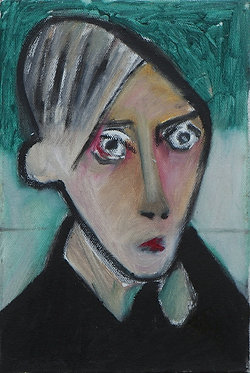 Lee du Ploy, Untitled, 2018, Mixed media on canvas, 20.4x30cm