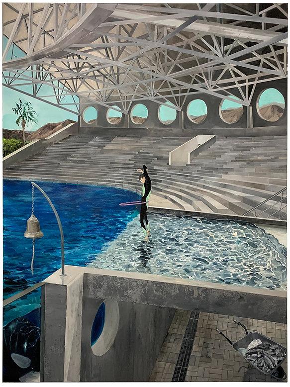 Tim Sandow, Topaz Omega, 2021, Acrylic a