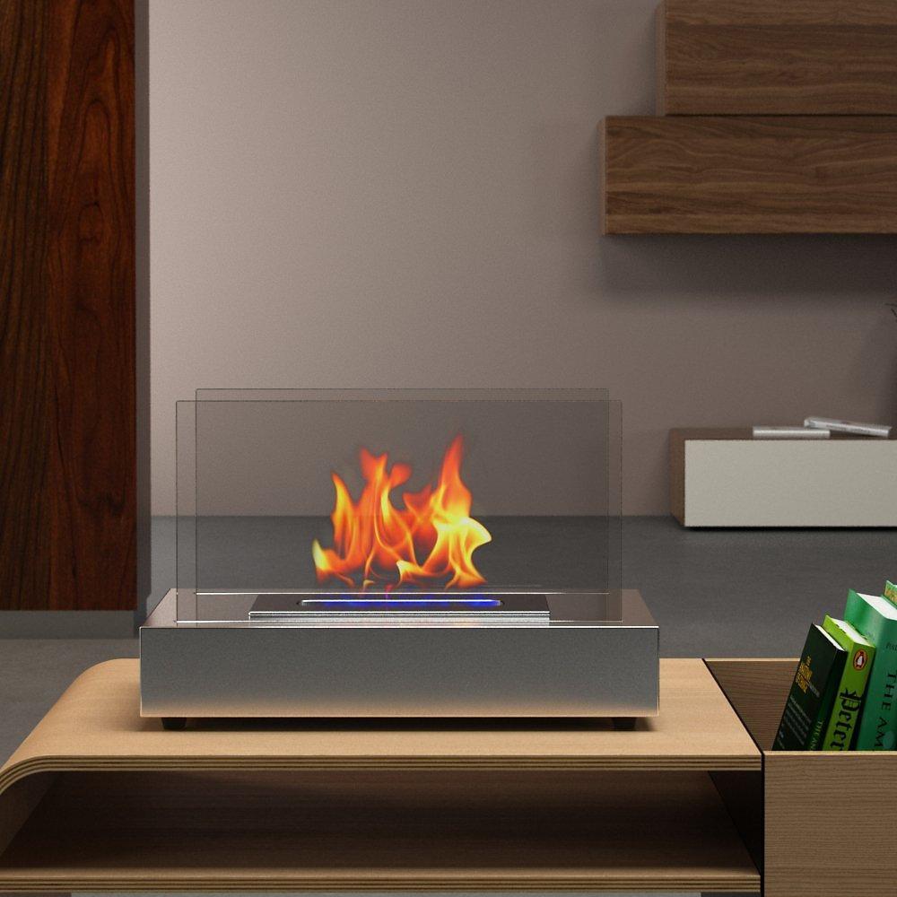 kodi repair texas  moda flame vigo table top ethanol fireplace  - moda flame vigo table top ethanol fireplace stainless steel