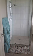 Shower in Premium Suite Ensuite room at The Roost Bed and Breakfast accommodation in Waiuku