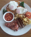 Full breakfast in hotel style at The Roost Bed and Breakfast in Waiuku