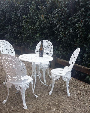 Private outdoor area at The Roost Bed and Breakfast accommodation in Waiuku with The Executive ensuite room