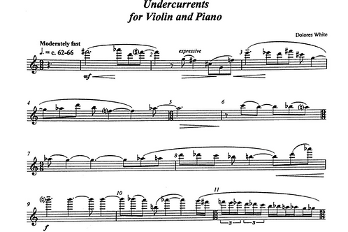 Three Pieces for Violin & Piano (violin part)