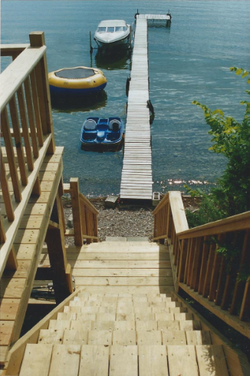 Stairs on deck