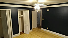 bedroom remodel with closet doors