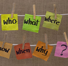 who, what, where, when, why, how questio