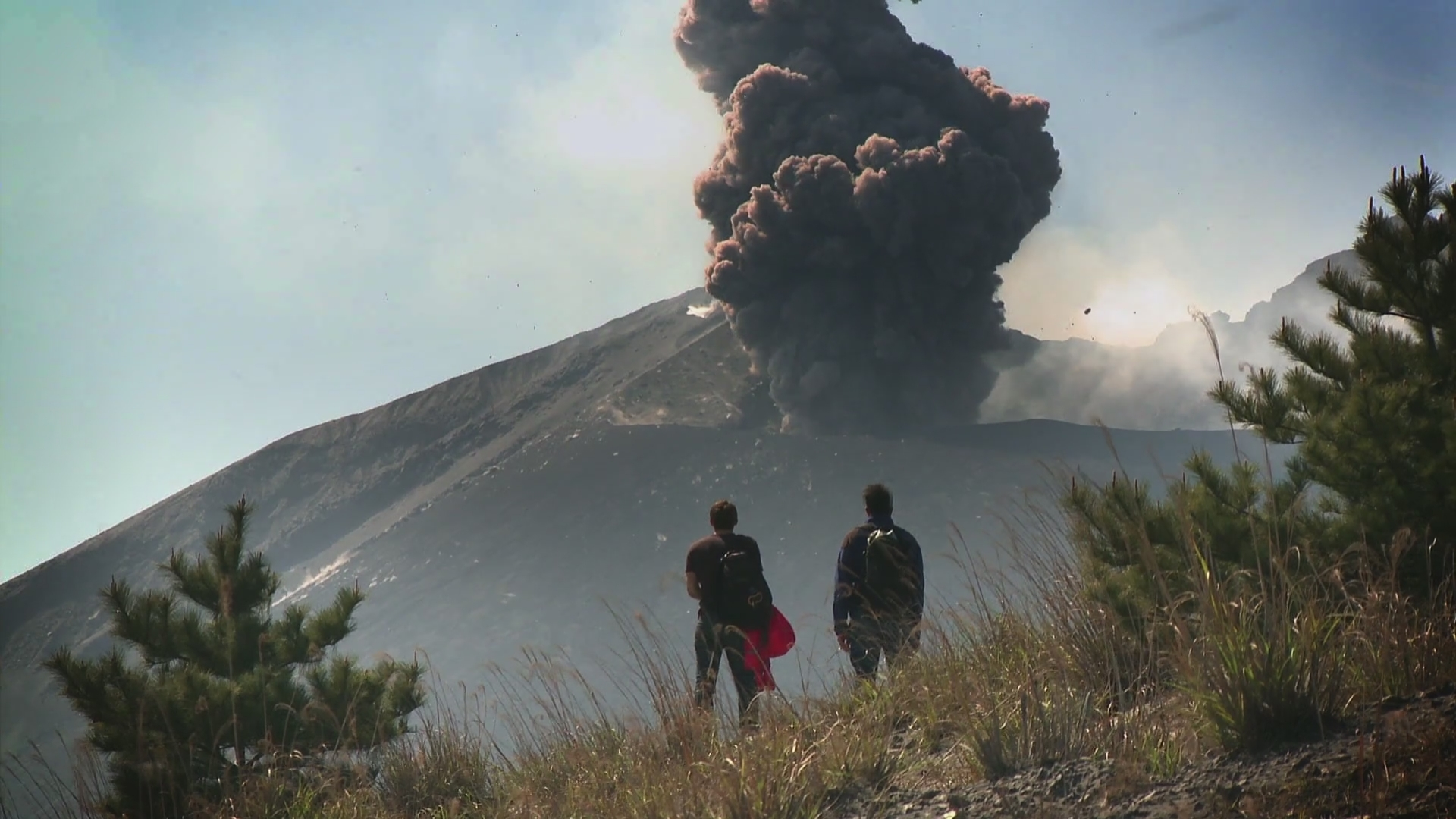 Greg Foot - filming - Volcano Chasing - AXA Research Fund