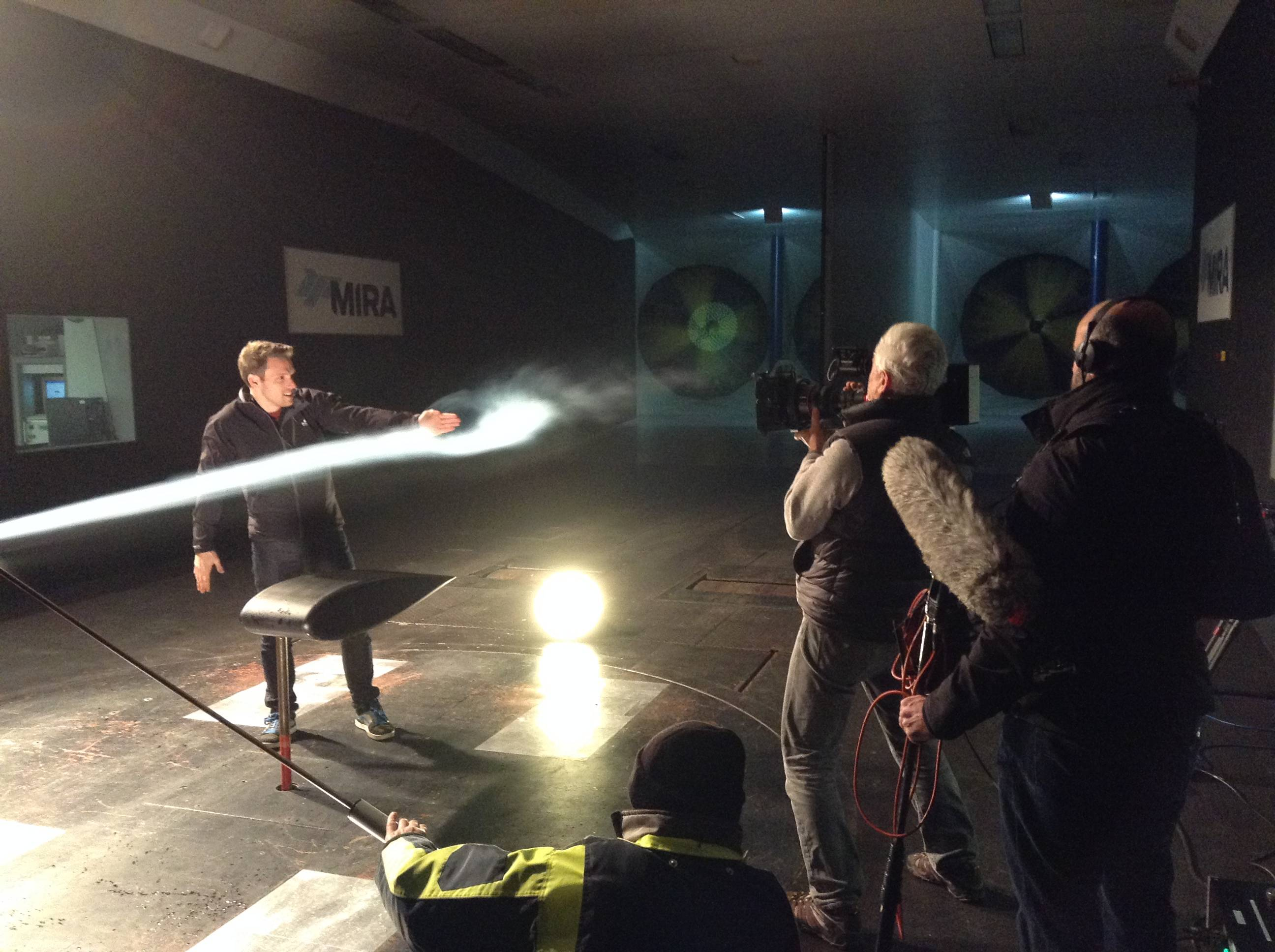 Greg Foot - filming - wind tunnel
