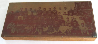 1939 Copper printing plate of Track team