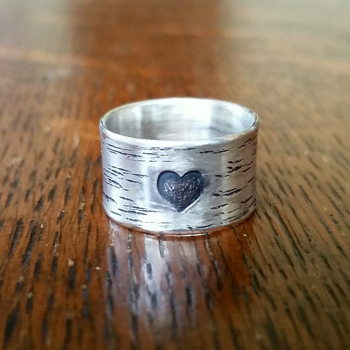 Heart Carved into a Tree Ring