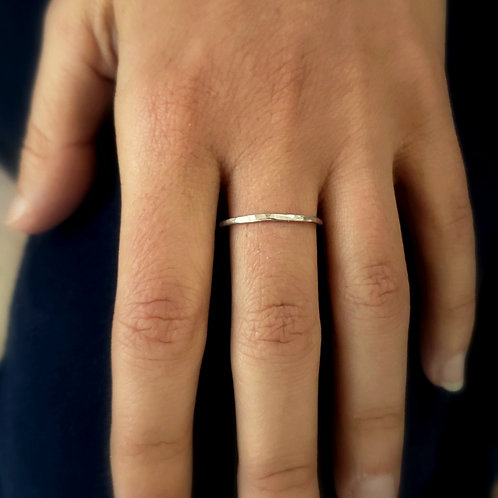 Dainty Sterling Stacking Ring