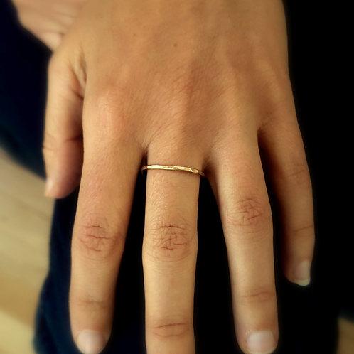 Dainty Brass Stacking Ring