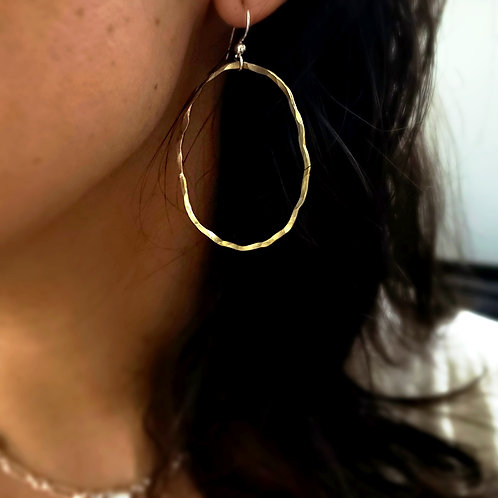Perfectly Imperfect Brass Hoops