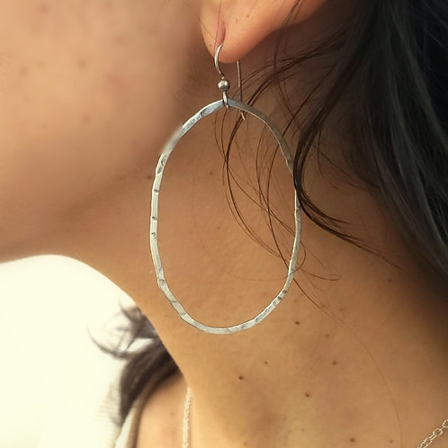 Perfect Imperfect Silver Hoops