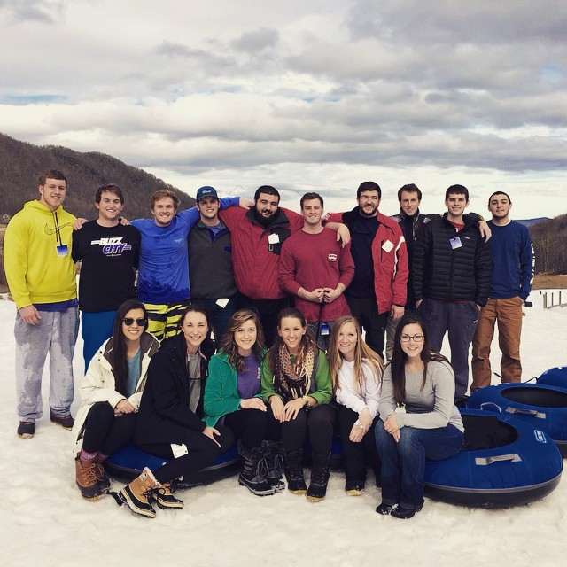 We had such a great time snow tubing  with the sisters of _appstateaphi at HawksNest Today!! #fijilo