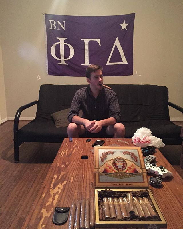 It's Cigar Night in Boone to get ready for game day tomorrow! #RushPhiGam
