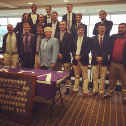 Some of our brothers with our Legate Dick Nelson, a graduate brother from Florida University at pref