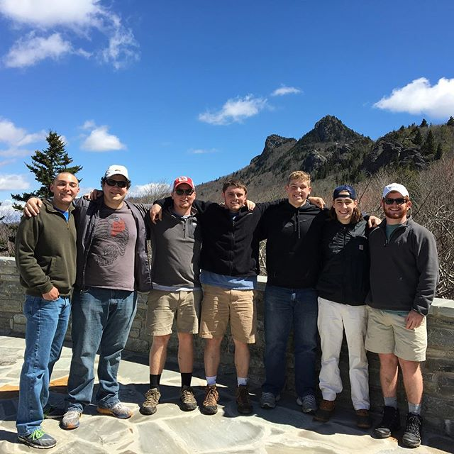 Our brothers had a great time volunteering to clean up Grandfather Mountain's bear and deer exhibits