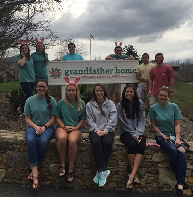 Some brothers partnered with the Child Advocacy Club to hold an Easter egg hunt benefiting the Grand