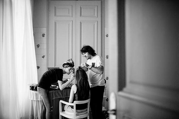 preparazione foto sposa