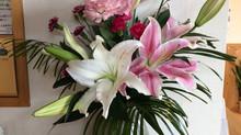 今日の花 オリエンタルリリー、トルコききょう